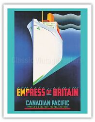 Empress Of Britain - Canadian Pacific - Jr Tooby Vintage Travel Poster Art Print