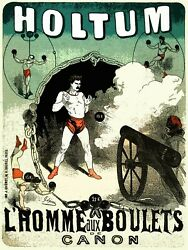 Decoration Poster.wall Art.home Room Design.circus Act.cannon Ball Decor.9543