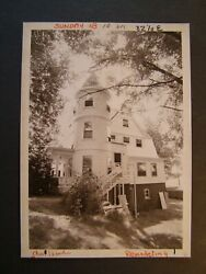 Glossy Press Photo 198? Southboro MA Work on House For Dorm for Faye School