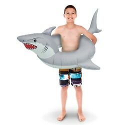 GoFloats #x27;Great White Bite#x27; Jr Pool Float Party Tube Stylish Floating for Kids