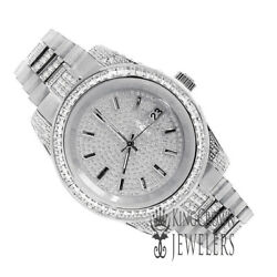 Solid Stainless Steel Tarnish Free Menand039s Ladies Presidential Metal White Watch