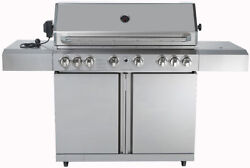 New 8 Burner 96,000 Btu Stainless Steel Outdoor Bbq Grill Propane Ng Rotisserie