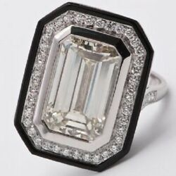 Brilliant White Transparent Cubic Zirconia With 925 Solid Silver Engagement Ring