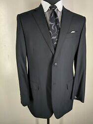 Canali Made In Italy 100 Wool Sport Coat. 2 Btn Center Vent  42 Long