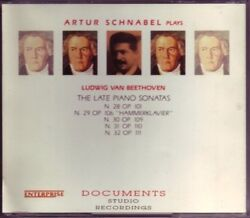 Artur Schnabel - Beethoven The Late Piano Sonatas 1993 2 Cd Sealed Rare Oop