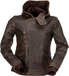 2020 Z1r Women's Indiana Brown Leather Motorcycle Street Jacket - Pick Size