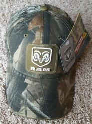 NEW DODGE RAM TRUCKS LOGO PATCH HAT CAP CAMO CAMOUFLAGE NWT REALTREE STRUCTURED