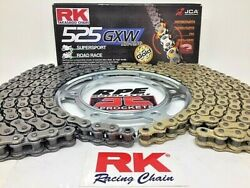 Ktm 990 Supermoto 2008-2010 Rk Gxw 525 Xw-ring Chain And Sprockets Kit
