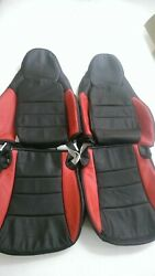 2005-2011 C6 Corvette Replacement Leather Black And Red Seat Covers For Z06