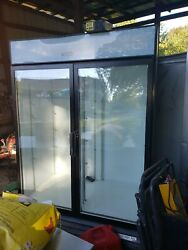 Commercial Beverage Air Double Door Cooler. Used And In Good Working Condition