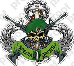 Sticker U S Army Flash 5th Special Forces Group Skull Logo