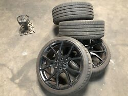 Ford Focus Rs Wheels Rims Rs2 Forged 19and039s With Tires Center Caps Sensors