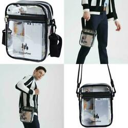 Clear Tote Cross Body Messenger Shoulder Lunch Bag Stadium Approved Handbag NEW- $10.20