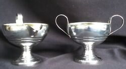 Vintage Sterling Silver Sugar Bowl And Creamer Set By M. Fred Hirsch Mfh