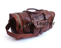 Leather Vintage Duffle Travel Retro Shoulder Womenand039s Weekender Tote Leather Bag