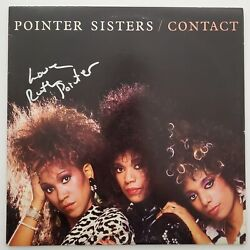 Ruth Pointer Signed Pointer Sisters Contact Vinyl Record Disco Pop Legend Rad