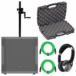 Mackie Srm1850 1600 Watt 18 Powered Dj Subwoofer + Sub Pole + Cables Package