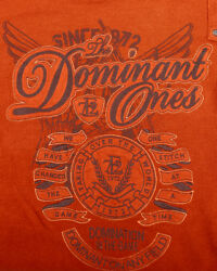 Evolution in Design The Dominant Ones Womens Thermal Shirt Size L Orange