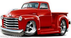 1950-2 Chevy Pickup Truck 327 Streetrod Garage Home Wall Decal Sticker Graphic