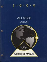 1999 Ford Mercury Villager Factory Service Repair Workshop Manual 2 Vol Set 3399