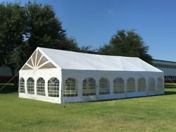 40and039x20and039 Pvc Marquee - Heavy Duty Large Party Wedding Canopy Tent Fire Retardant