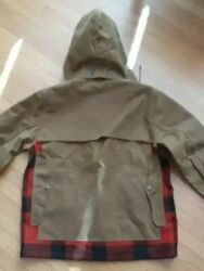 Filson Waxed Cotton Oil Cloth And Wool Work Cape Jacket Hood 10599 Nigel Cabourn