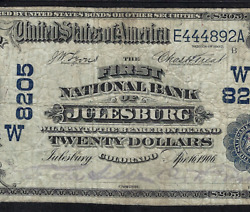 Co 1902 20 Date-back ♚♚julesburg Colorado♚♚ Pmg Vf20 Only Db Very Rare