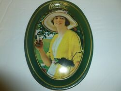 Lot Of 3 Coca Cola Vintage Small Oval Tray Tin Plates Decor Advertising 1973