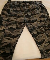 Evolution In Design Mens Gray Camo Jeans Pants 42 x 34 Cargo Pockets