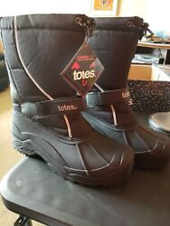 Mens Totes Thermolite Black Waterproof Shell Boots Size 13M NEW $39.99