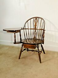 Hale Furniture Company Of Vermont Maple Windsor Righthand Desk Chair W 2 Drawers