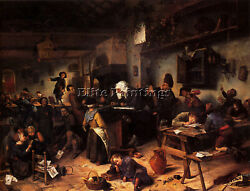 Jan Steen Havicksz A School For Boys And Girls Artist Painting Reproduction Oil