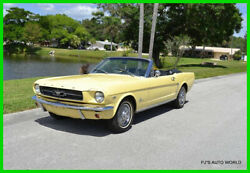 1965 Ford Mustang D Code 260 Cubic Inch V8 engine automatic transmission 1965 Ford Mustang Convertible Springtime Yellow