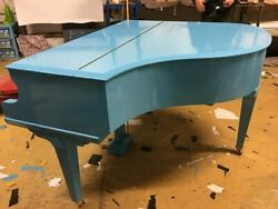 Full Sized Digital Light Blue Baby Grand Piano