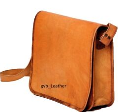 18quot; Ultimate Leather Vintage Briefcase Satchel Laptop Messenger Bag Shoulder Men $32.54