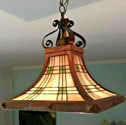 Beautiful Copper Antique Mission Chandelier Hanging Lamp