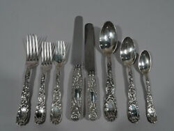 Tiffany Chrysanthemum Dinner Set - 252 Pieces for 12 - American Sterling Silver