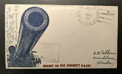 1944 Right In Der Feuhrers Face Us Apo Windham Alaska Wwii Patriotic Cover