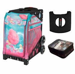 Zuca Cotton Candy With Black Frame With Free Seat Cover And Zuca Utility Pouch