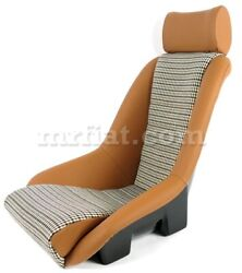 For Porsche Rr Seat Beige Leather Houndstooth New