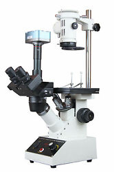 Inverted Tissue Culture Medical Live Cell Clinical Microscope W 5mp Usb Camera