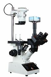 Inverted Tissue Culture Medical Live Cell Clinical Microscope W 5 Mp Usb Camera