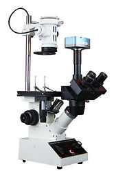 Inverted Tissue Culture Medical Live Cell Biotechnology Microscope W Usb Camera