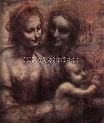 Leonardo Da Vinci Madonna And Child With St Anne And Young St John D1 Artist Oil