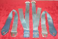 1965 Mustang Fastback Coupe Gt Convertible Orig Blue Deluxe Front Seat Belts Set