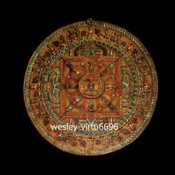 Red Copper Inlay lapis lazuli Mandala Mahamandala Fokan Buddha Shrines Thangka