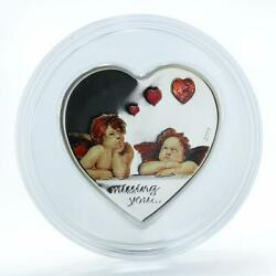 Palau 5 Dollars Missing You Kids Angels Heart Silver Proof Coin 2009