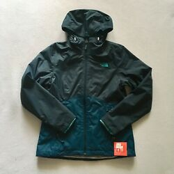 NWT The North Face Women Sansa Tri-Climate 3 in 1 Hooded Jacket Prussian Blue M
