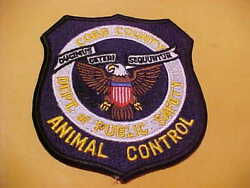 COBB COUNTY GEORGIA ANIMAL CONTROL POLICE PATCH SHOULDER SIZE UNUSED
