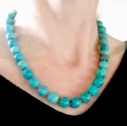 Rare Outstanding Antique Or Vintage 70.80g Big Solid Turquoise Beads Necklace